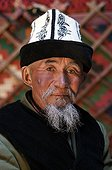 Portrait of the patriarch of a family of Nomads Kyrgyzstan