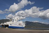 Ferry in the port of Propriano Gulf Valinco Corsica France