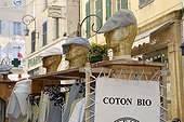 Store of clothes in biological cotton Antibes France