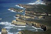 Coastal cliffs and the Great Ocean Road Victoria Australia