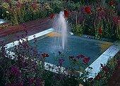 Flowered garden fountain