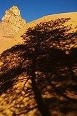 Shadow of a Pin on the ocher colorado provençal Rustrel