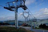 Alpine ski resort and high-voltage lines ; Degradation of environment