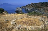Habitat of the Bronze Age Island Panarea Aeolian Islands Italy