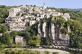 The classified village Balazuc at the edge of Ardèche France ; Village of character and nicer village of France