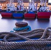 Bateaux de pêche dans le port de Getaria Espagne