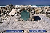 Line sharing Oceans Cape Agulhas South Africa