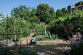 Vegetable garden in Garden of Paradise Cordes-sur-Ciel Tarn