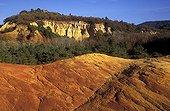 Ocher cliffs Rustrel in Vaucluse