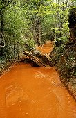Wash the ocher in Rustrel in Vaucluse France