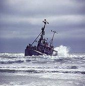 Naufrage d'un chalutier de pêche Skeleton Coast Namibie