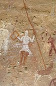 Rock Carvings of Fezzan Sahara Desert Libya