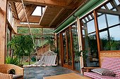 Verandah of a house bioclimatic France