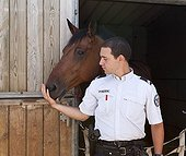 Peacekeeper and his Horse Unity of the French Mounted Police ; Character: Peacekeeper Franck MENDIELA