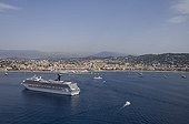 Aerial view of Cannes on the Cote d'Azur France