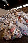 Recyclable household waste in a sorting France ; Company Haganis