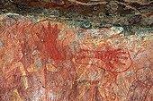 Rock painting in Kakadu NP Australia