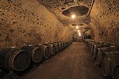 Cellar carved into the rock Vouvray Loire France