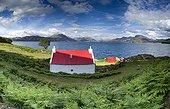 House red roof Loch Torridon Highland Scotland