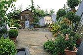 Garden entitled 'A garden attic' Paris France ; Designer: Hugh Peuvergne