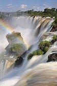 Salto Ambiguous and rainbow Iguazu Falls Argentina