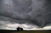 Threatening skies in front of a cumulonimbus cloud in Ain France