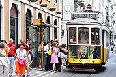 Electric Tram Lisbon Portugal