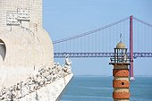 April 25 Bridge and Monument to the Discoveries Lisbon