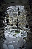 MOUSA BROCH ; Looking into the interior of Mousa Broch from doorway Mousa Shetland
