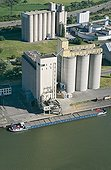 River port grain on an arm of the Moselle Metz France