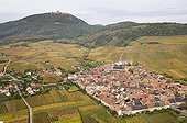 The village of Saint-Hippolyte in the vineyards France