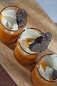 Verrines de potimaron aux truffes