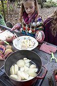 Cooking apple sauce