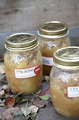 Jars with with apple sauce