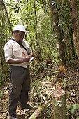 Guard and illegal logging Corridor Anjozorobe Madagascar