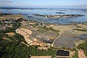 Aerial view of Salt Marsh Gulf of Morbihan France