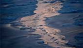 Reflections on the pack ice of Baffin Bay Canada