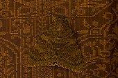 Papillon la Déplacée sur un tissu Provence France