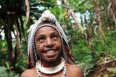 Young woman wearing wedding PapuaNew- Guinea