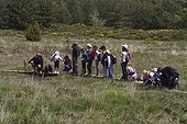 Children in Out Nature with Guide Bog Montselgues France