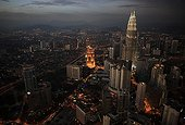 Kuala Lumpur view of Menara Tower night Malaysia
