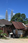 Petronas Twin Towers seen from the suburbs of the capital