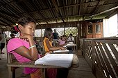 Classroom in a village along the Amazon Brazil