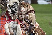 Kikuyu men and women in traditional dress Nakuru Kenya