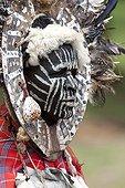 Portrait of Kikuyu man in traditional dress Nakuru Kenya