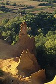 Old ochre quarry Colorado de Rustrel in Provence France