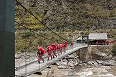 Km 88 chekpoint Start of the Inca Trail with team porters