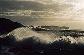Beach under a storm Kerguelen Islands