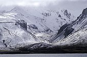 Mountain landscape in the south of the Kerguelen Islands