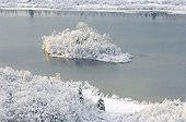 Lake Ilay in snow Jura France ; p. 34